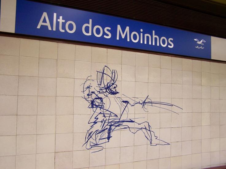 Alto dos moinhos metro station