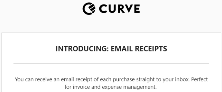 Curve Receipts